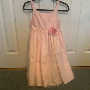 Halabaloo 100% Silk Girls Tulle Flower Girl Dress